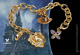 Lumos Hufflepuff Charm Bracelet