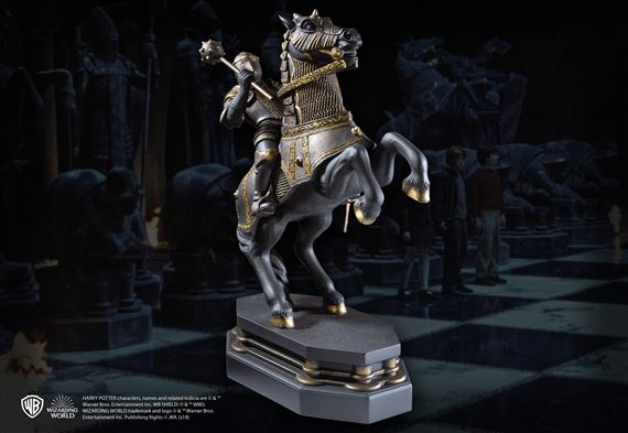 Wizard Chess Knight Bookend- Black
