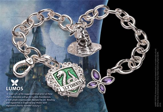 9539caffc Lumos Slytherin Charm Bracelet at noblecollection.com