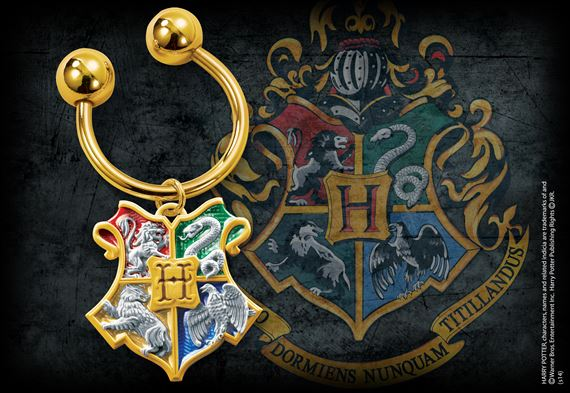 The Hogwarts House Crest Keychain