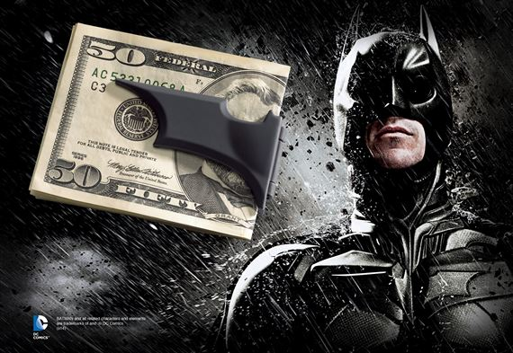 Batarang Money Clip, Black