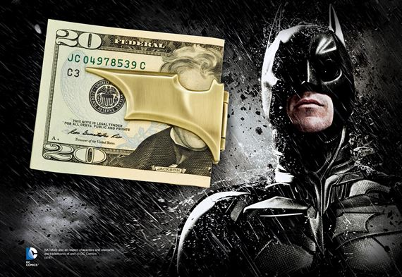 The Batarang Folding Money Clip, Bronze
