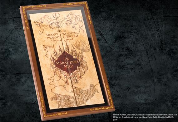 Marauder's Map Display Case