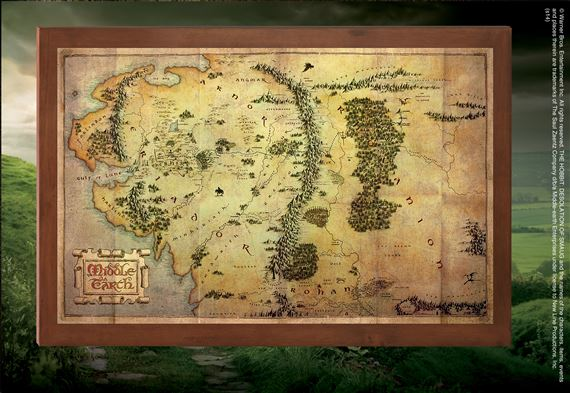 The Map of Middle Earth at noblecollection.com