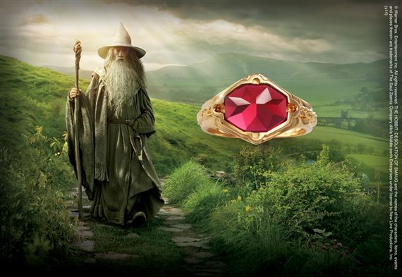 Gandalf Ring, Sterling Silver, Gold Plated