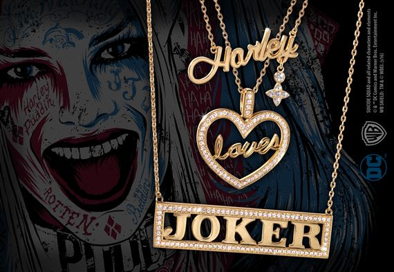 Harley Quinn Loves The Joker Necklace Set