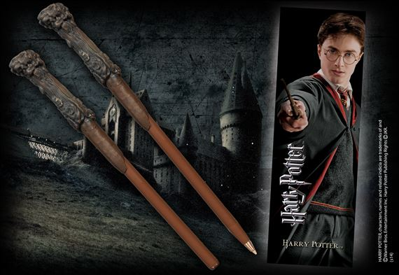 Wand Len harry potter wand pen and bookmark at noblecollection com