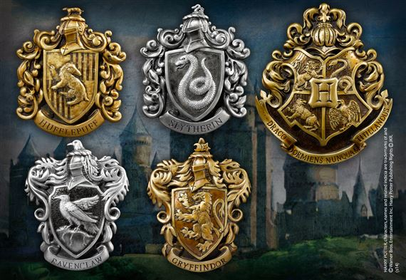 SET OF HOUSE CRESTS
