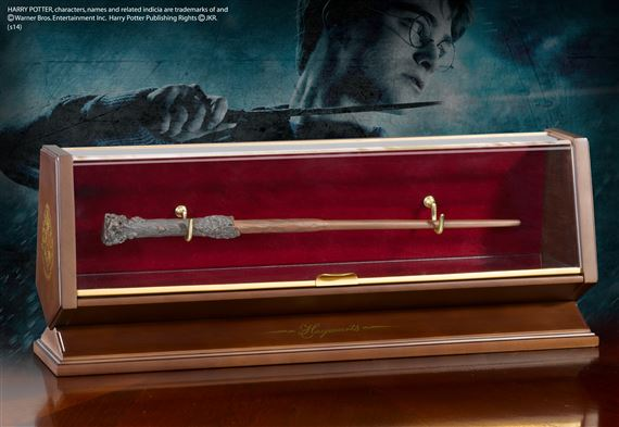 Harry Potter Bronze Wand and Display