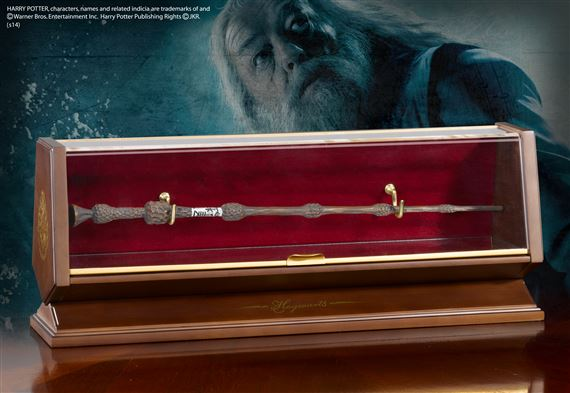 Dumbledore Bronze Wand and Display