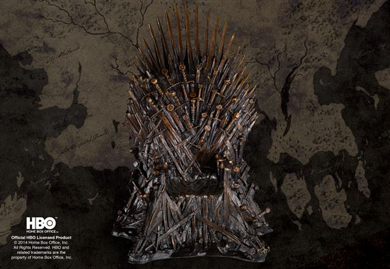The Iron Throne Special Edition Bronze Bookend 14 inch