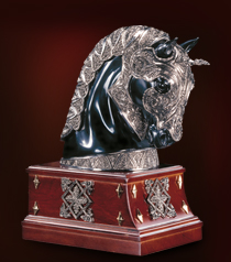 The Equestrian Armor Bookend