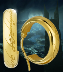 The One Ring Earrings, Gold