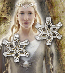 Galadriel Ring Earrings, Sterling Silver