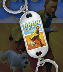Tintin and Snowy Desert Key Fob