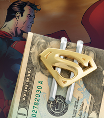 Superman Returns Shield Money Clip (Gold