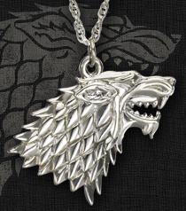 Stark Sigil Wolf Pendant
