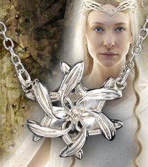 Galadriel Ring Pendant, Sterling Silver
