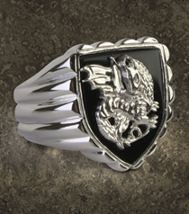 Pendragon Ring, Sterling Silver