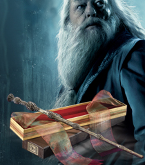 Harry potter wands the noble collection for Dumbledore s wand with ollivanders box