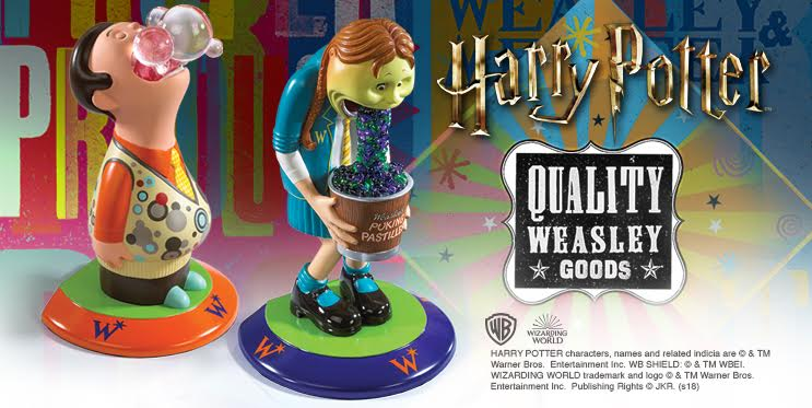 weasleys wizard wheezes bookend bubble boy and puking pastilles